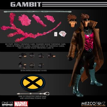 Pre-Order - Mezco One:12 Collective Marvel X-Men Gambit Action Figure - Deposit Pay Later